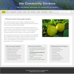 the Community Gardens