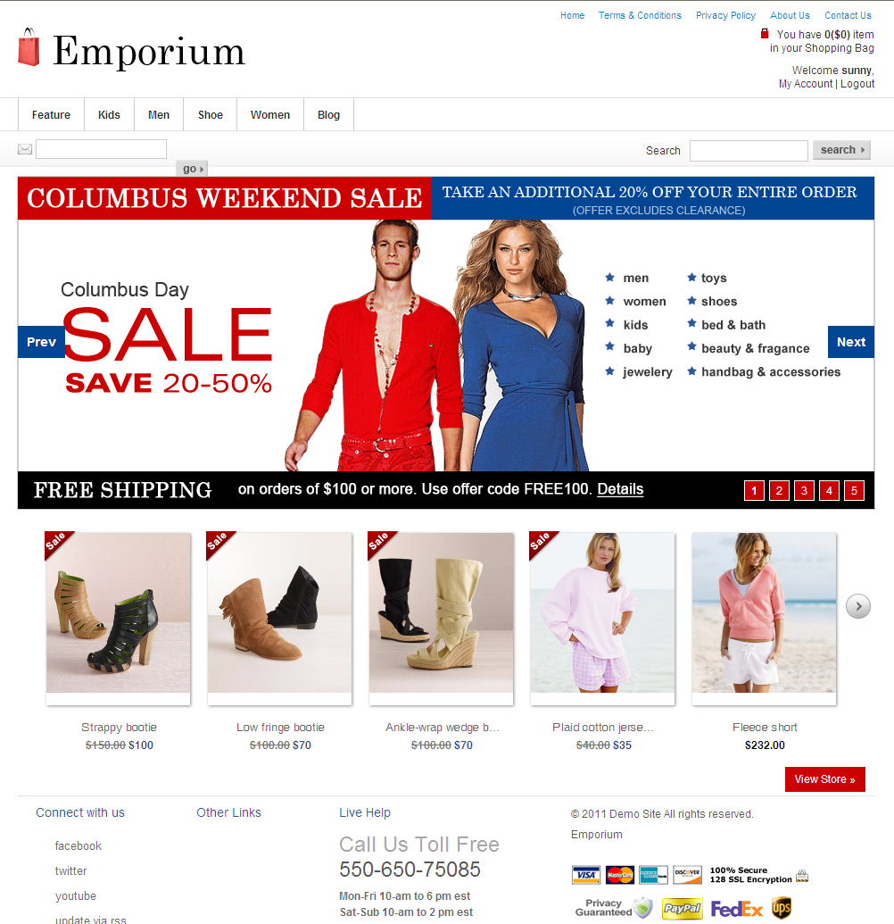 Online Clothes Designing Website eCommerce Web Design