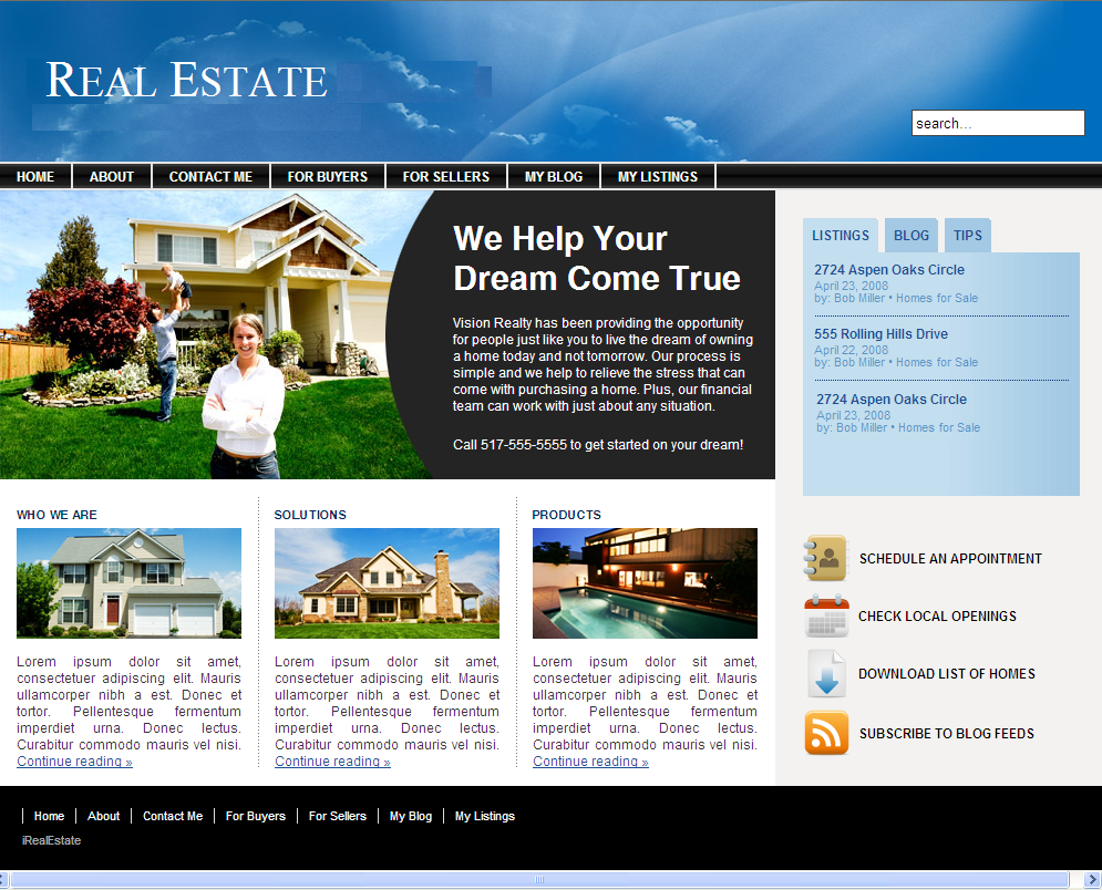 Real estate web design top level web design for Home design websites