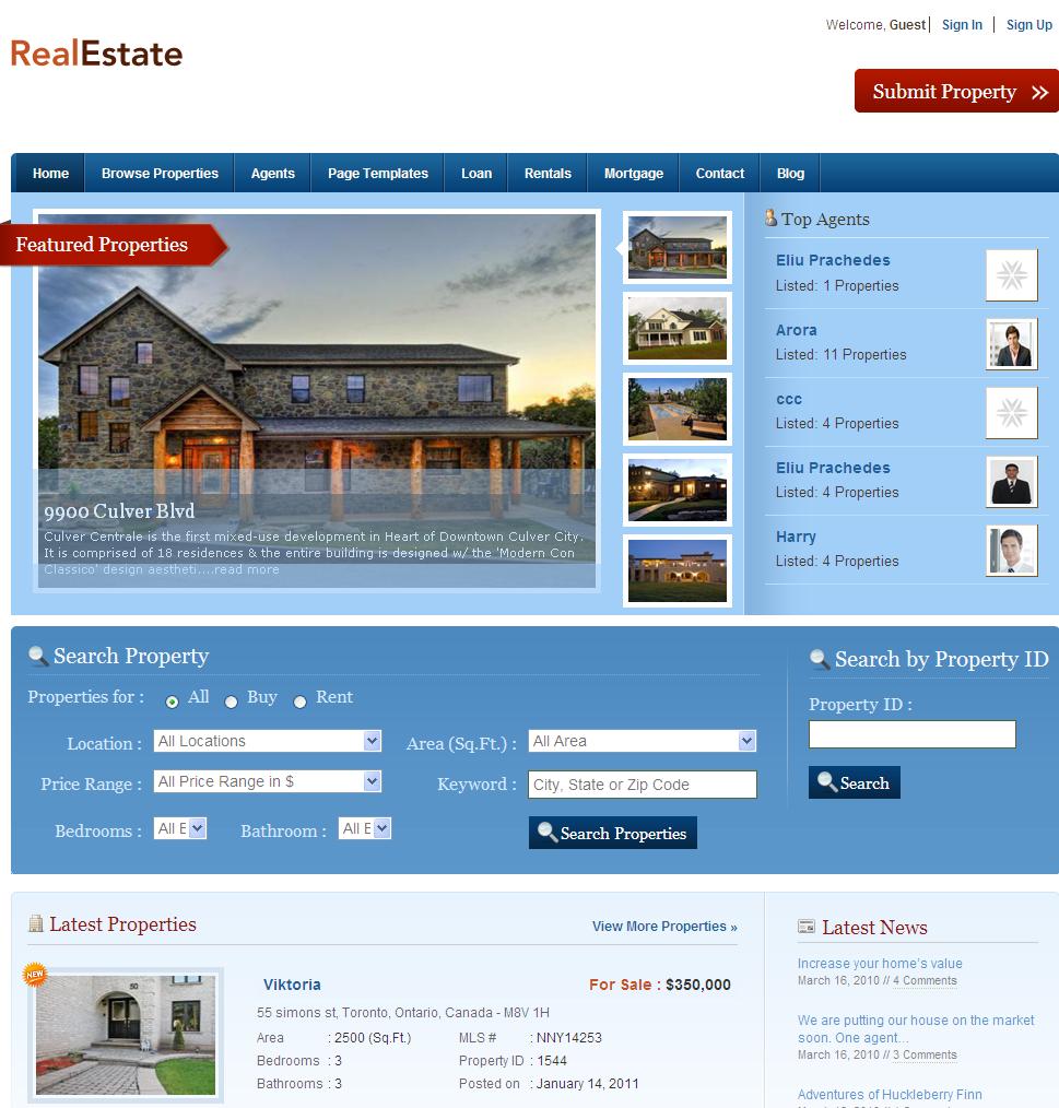 Home Design Websites: Real Estate Web Design