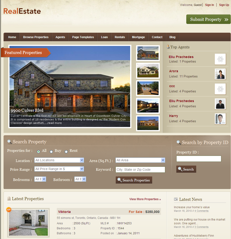 Real estate web design software home design ideas for Home design websites
